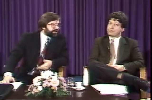 A nevezetes vita 1991-ben. Balra Kónya Imre, jobbra Pető Iván